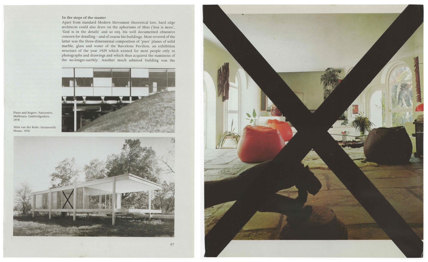 Left: Wade Guyton, Untitled (In the steps of the master), 2002, felt-tip pen on book page, 9½ x 7¼ in. Collection of the artist. Image courtesy Scott Rothkopf, Wade Guyton OS, exhibition catalog (New Haven: Yale University Press, 2012): 53. Right: Wade Guyton, Untitled, 2002, felt-tip pen on book page, 11 x 9¼ in. Collection of Candy and Michael Barasch. Image courtesy Scott Rothkopf, Wade Guyton OS, exhibition catalog (New Haven: Yale University Press, 2012): 55.