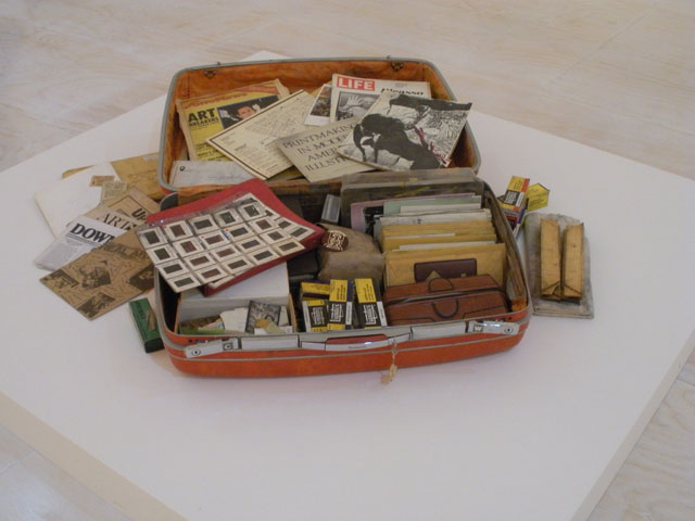 Dan Concholar, Suitcase, 1980. Collection Linda Goode Bryant, New York. Photo by Jillian Steinhauer for Hyperallergic.