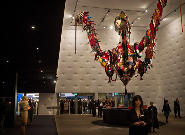 Figure 1. Entrance hall of TEFAF 2013 featuring Joanna Vasconcelos' piece, Mary Poppins. Photograph by Harry Heuts.