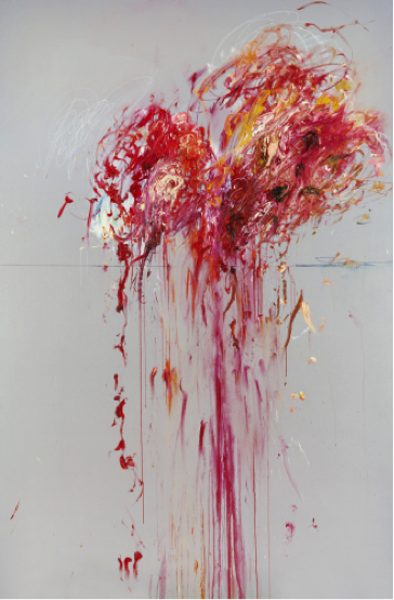 Cy Twombly, Nine Discourses on Commodus: Part VIII, 1963. Oil, wax crayon, and pencil on canvas, 204 x 134 cm. Image courtesy Guggenheim Bilbao Museoa.