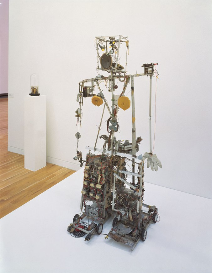 Robot K-456, 1964. Twenty-channel radio-controlled robot, aluminum profiles, wire, wood, electrical divide, foam material, and control-turn out. 72 x 40 x 28 in. (183 x 103 x 72 cm). Friedrich Christian Flick Collection im Hamburger Bahnof, PAIKN1792.01. Photo: Roman März, Berlin.