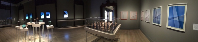 Installation photograph of the first of four galleries of the Jewish Museum's Repetition and Difference. Photograph by the author.